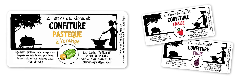 La Ferme du Rigoulet - Confiture paysanne // Étiquettes