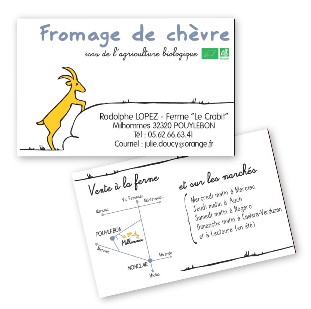 Fromage de chèvre et brebis // Carte de visite