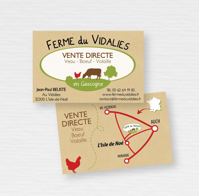 Ferme du Vidalies // Carte de visite