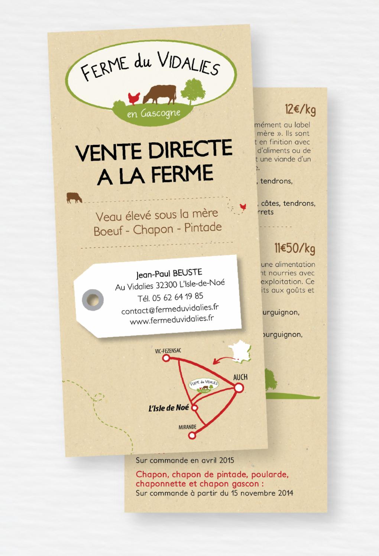 Ferme du Vidalies // Flyer