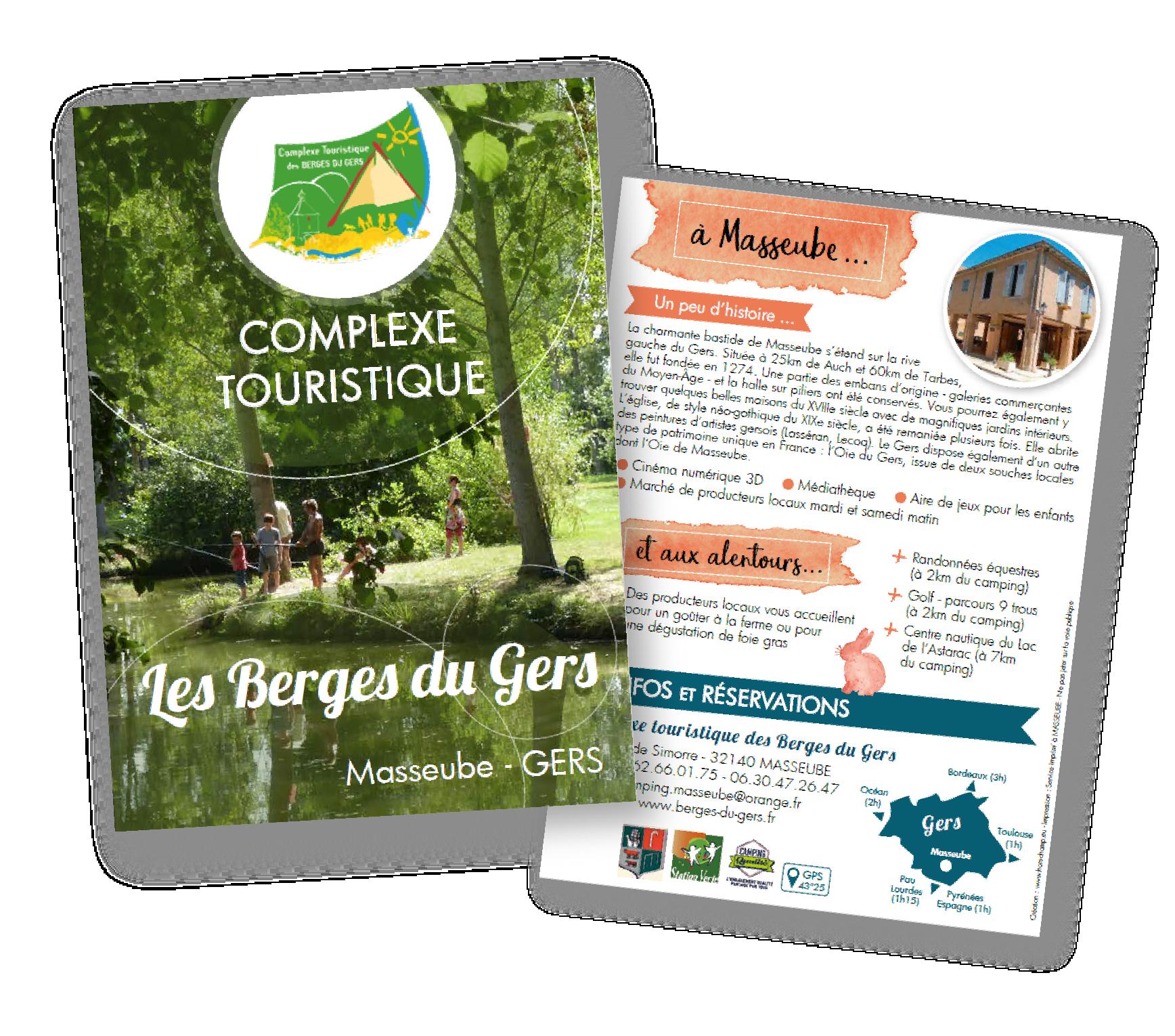 DÉPLIANT 02 // Camping Les Berges du Gers à Masseube (2018)
