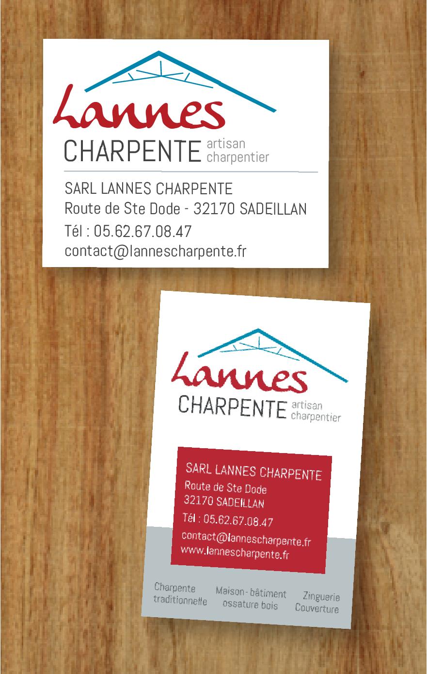 LOGO et CARTE DE VISITE // Lannes charpente